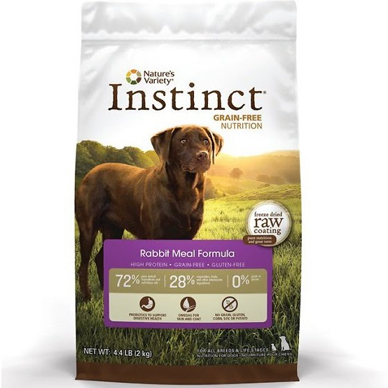 Nature's Variety Instinct Grain-Free Rabbit Meal Formula Dry Dog Food 4lbs