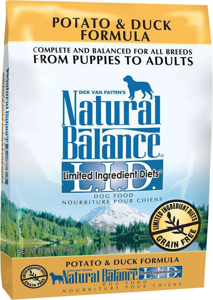 Natural Balance L.I.D. Limited Ingredient Diets Potato & Duck Formula Dry Dog Food 26lbs