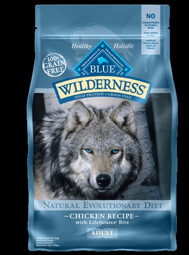 Blue Buffalo Wilderness Chicken Recipe Grain-Free Dry Dog Food 24lbs