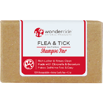 Wondercide 'FLEA & TICK' Natural Shampoo Bar with Citronella & Geranium for Dogs & Cats 4.3z