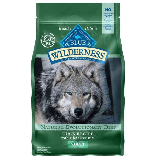 Blue Buffalo Wilderness Duck Recipe Grain-Free Dry Dog Food 4.5lbs
