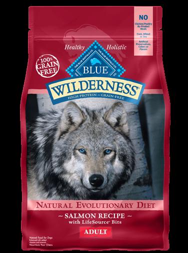 Blue Buffalo Wilderness Salmon Recipe Grain-Free Dry Dog Food 4.5lbs
