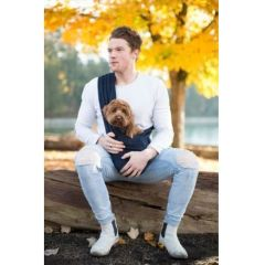 "Snuggit - Dog Sling Carrier ""Tig"" Blue Silk Suede"