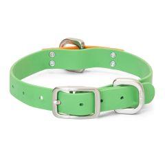 West Paw Jaunts Dog Collar Greenery/Tangerine