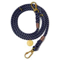 Found My Animal Adjustable Dog Rope Leash - Navy