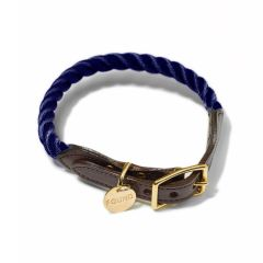 Found My Animal Rope & Leather Collar- Navy