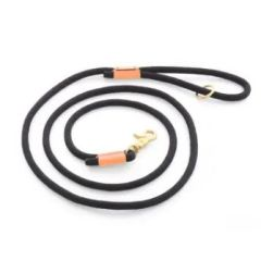 Climbing Rope Dog Leash (6 feet) - Black & Peach