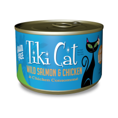 Tiki Cat - Luau- Napili- Salmon & Chicken 6 oz