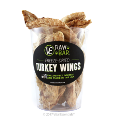 Vital Essentials VE Raw Bar- Freeze-Dried Turkey Wing Dog Chew (1 pc)