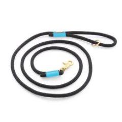 Climbing Rope Dog Leash (6 feet) - Black & Aqua