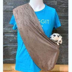 Snuggit Dog Sling Carrier Brown Silk Suede