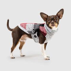 Canada Pooch Northern Knit Dog Sweater Plaid