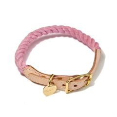 Found My Animal Rope & Leather Collar- Blush