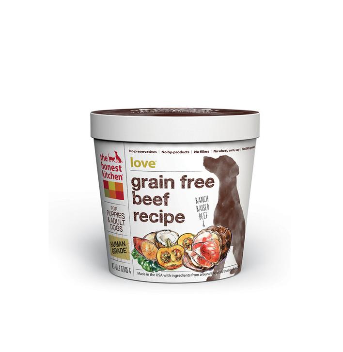 Honest Kitchen Grain Free Beef Food Love 3 Oz Cup Moonlight Dog Cafe