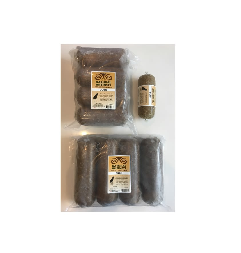 Natural Instincts Raw Dog Food Non Med Duck With Bone Organ Veg
