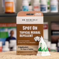 Dr Mercola Herbal Flea & Tick Spot On Repellent for Dogs and Puppies