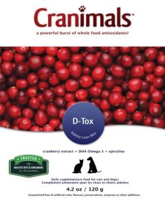 Cranimals - D-Tox (with Kelp and Spirulina) 120 g