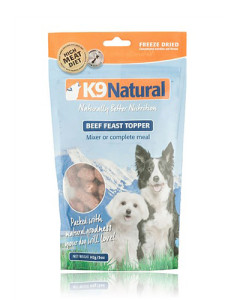 K9 Natural - (Dog) Freeze Dried - Natural Beef Feast Topper 5 oz