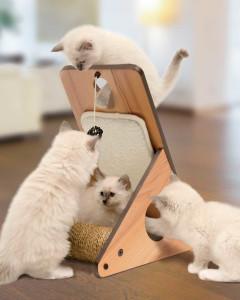 Vesper V-Playstation Cat Furniture - Walnut