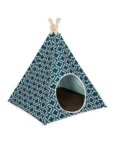 P.L.A.Y. - PLAY Pet Teepee Tent - Moroccan Navy Blue