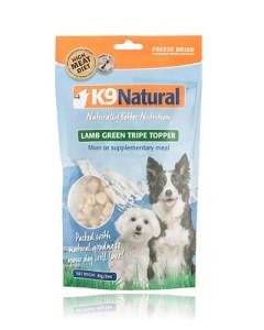 K9 Natural - (Dog) Freeze Dried - Natural Lamb Green Tripe Topper 2 oz