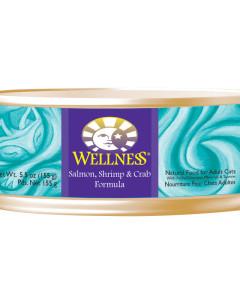 Wellness - (Cat) Can - Salmon, Shrimp & Crab 155 g (5.5 oz)