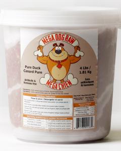 Bold Raw (Dog) - Mega Dog - 4 lb tub 100% Pure Duck
