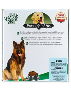 Pets 4 Life (dog) - Raw - Canine Duck -