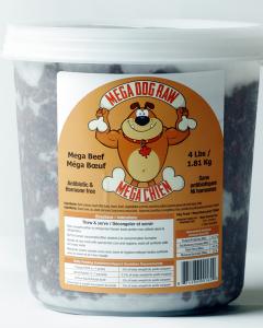 Bold Raw (Dog) - Mega Dog - 4 lb tub Grass-fed Beef