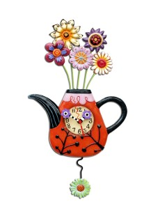 Allen Designs - Flower-Tea-Ful Pendulum Clock