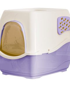 Marchioro - Bill Deluxe Enclosed Cat Litter Pan Violet