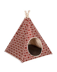P.L.A.Y. - PLAY Pet Teepee Tent - Moroccan Marsala