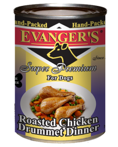 Evanger's - (Dog/Cat) Canned - Hand-Pack Premium Roasted Chick Drummet 13 oz