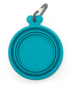 Messy Mutts - Silicone Collapsible Bowl - Blue