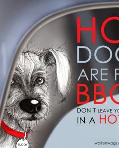 Walks N' Wags - Hot Dogs Sticker