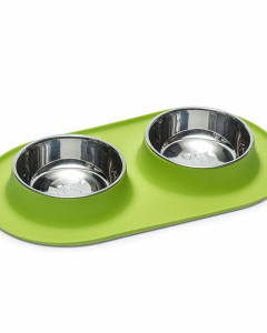 Messy Mutts -  Double Silicone Feeder