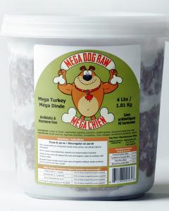 Bold Raw (Dog) - Mega Dog - 4 lb tub Natural Turkey