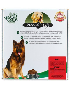 Pets4Life (dog) - Raw - Canine Beef -