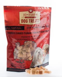 JD Farms - (dog) Treat - Freeze-dried Specialty Turkey Breast 50 g