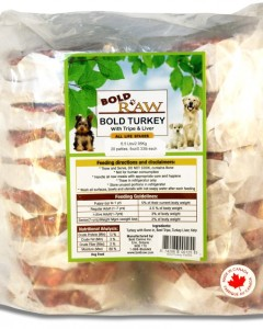 Bold Raw (Dog) - Natural Turkey - 6.5 lbs