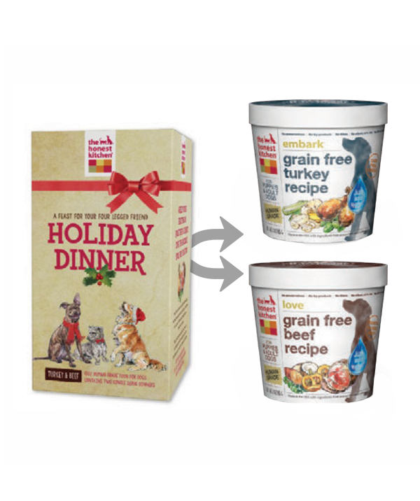 Honest Kitchen   (Dog) Dehydrated   Holiday Dinner Box