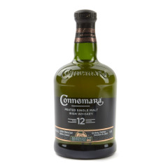 A product photo of bottle of Connemara 12 year whiskey