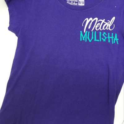 PRETTY IN PUNK TEE PURPLE L