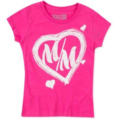 Tshirt Métal mulisha enfant rose