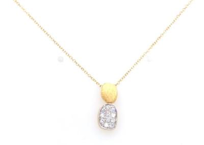 Femme adorée - collier 18kt geel goud met briljant - 03C0303