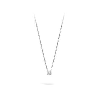 Collier 18kt wit goud met briljant - PWL1060W015
