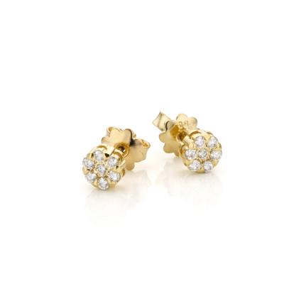 Oorstekers 18kt geel goud met briljant - OBWL2005Y57