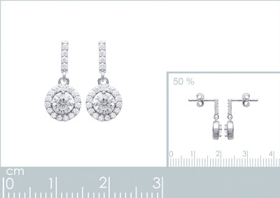 Oorhanger in zilver met zirkonium - 1507810