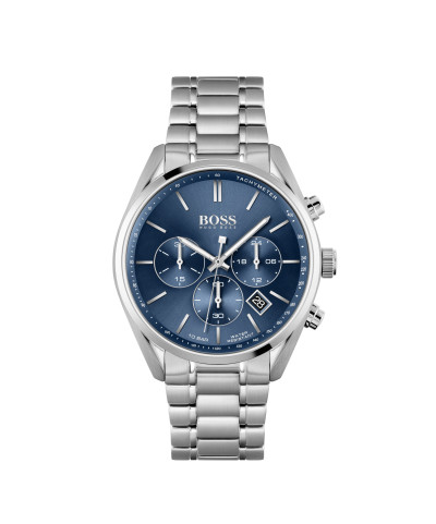 Hugo Boss - herenhorloge 44mm chronograaf met metalen band blauwe wijzerplaat - 1513818