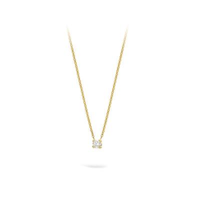 Collier 18kt geel goud - solitair met briljant - PWL1060Y10